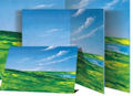 Meadow & Sky Flannelgraph Background Small / Un mounted Printed Scenes Felt