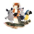 Zoo Animals Set of 6 (12)