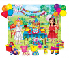 Birthday Party with Playboard / Precut Flannel Clings with Playboard