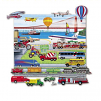 Trucks, Trains & Planes with Playboard