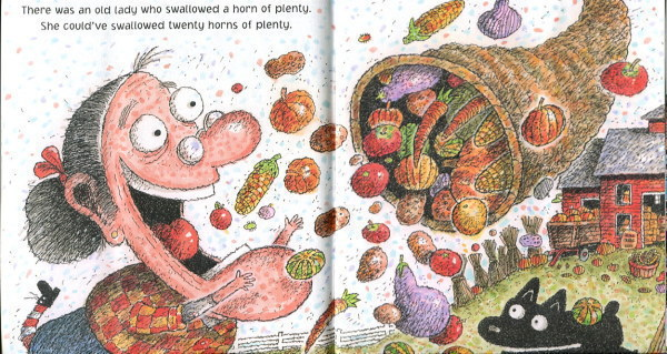 Fiction Books There Was An Old Lady Who Swallowed A Turkey 16