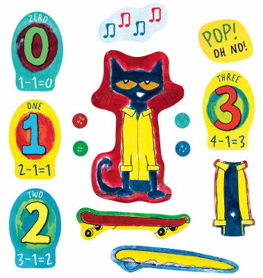 Pete the Cat and His Four Groovy Buttons (15) / Precut Flannel Clings